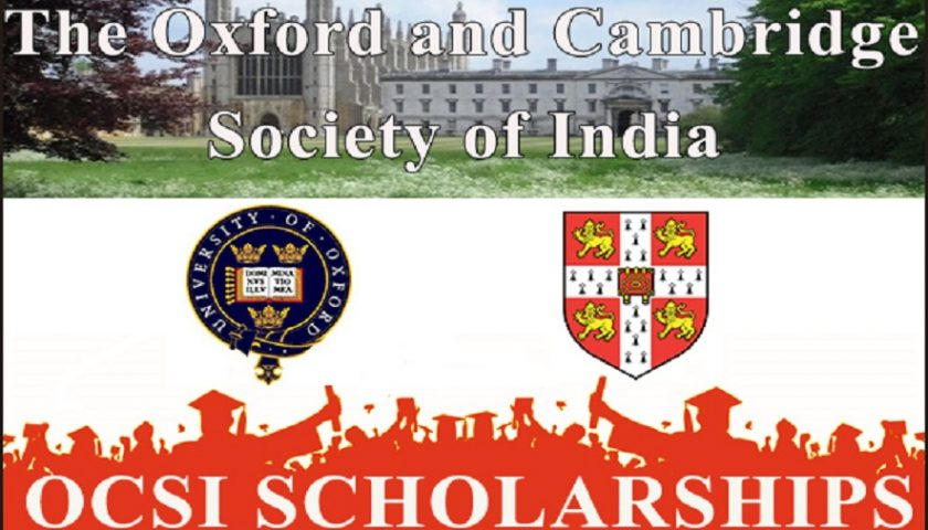Oxford and Cambridge Society of India Scholarships 2018